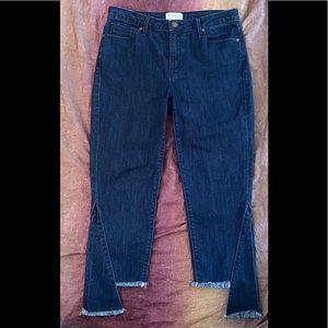 Parker Smith Raw Step Hem Crop Jeans